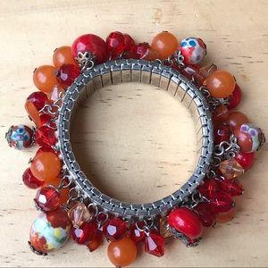 Vintage Venetian glass and crystal bracelet